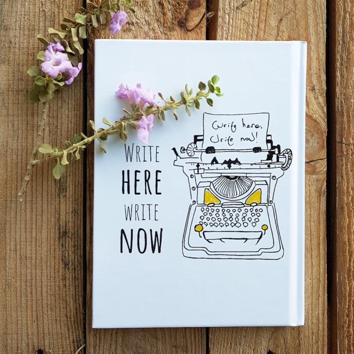 מחברת מכונת כתיבה Write here, Write now
