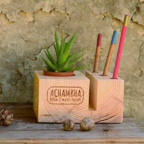 קובבה אצ'מבה achambha מעמד פתקים ועטים, סטנד לפתקים ועטים